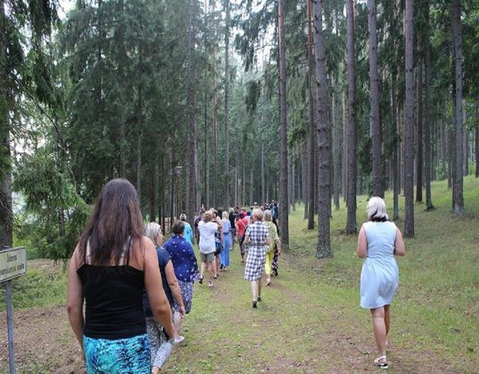 Latvian Teachers Explore the Forest in a Summer Camp